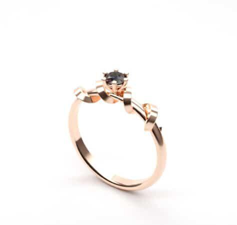 egyedi eljegyzési gyűrű